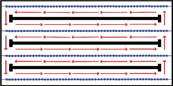 Diagram of proper circle swim technique