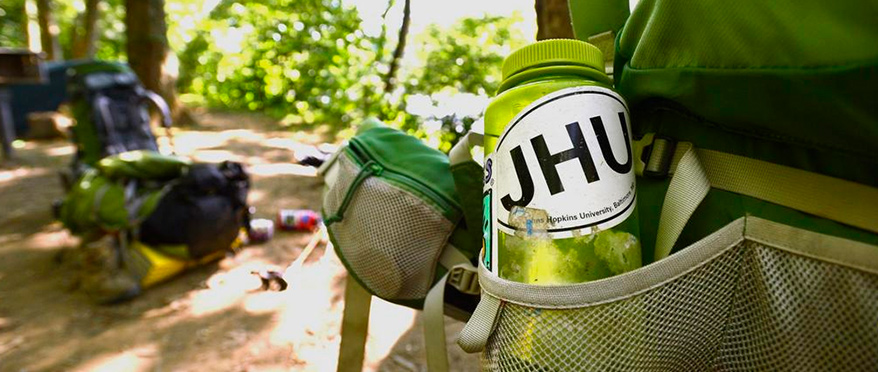 Canteen with JHU sticker