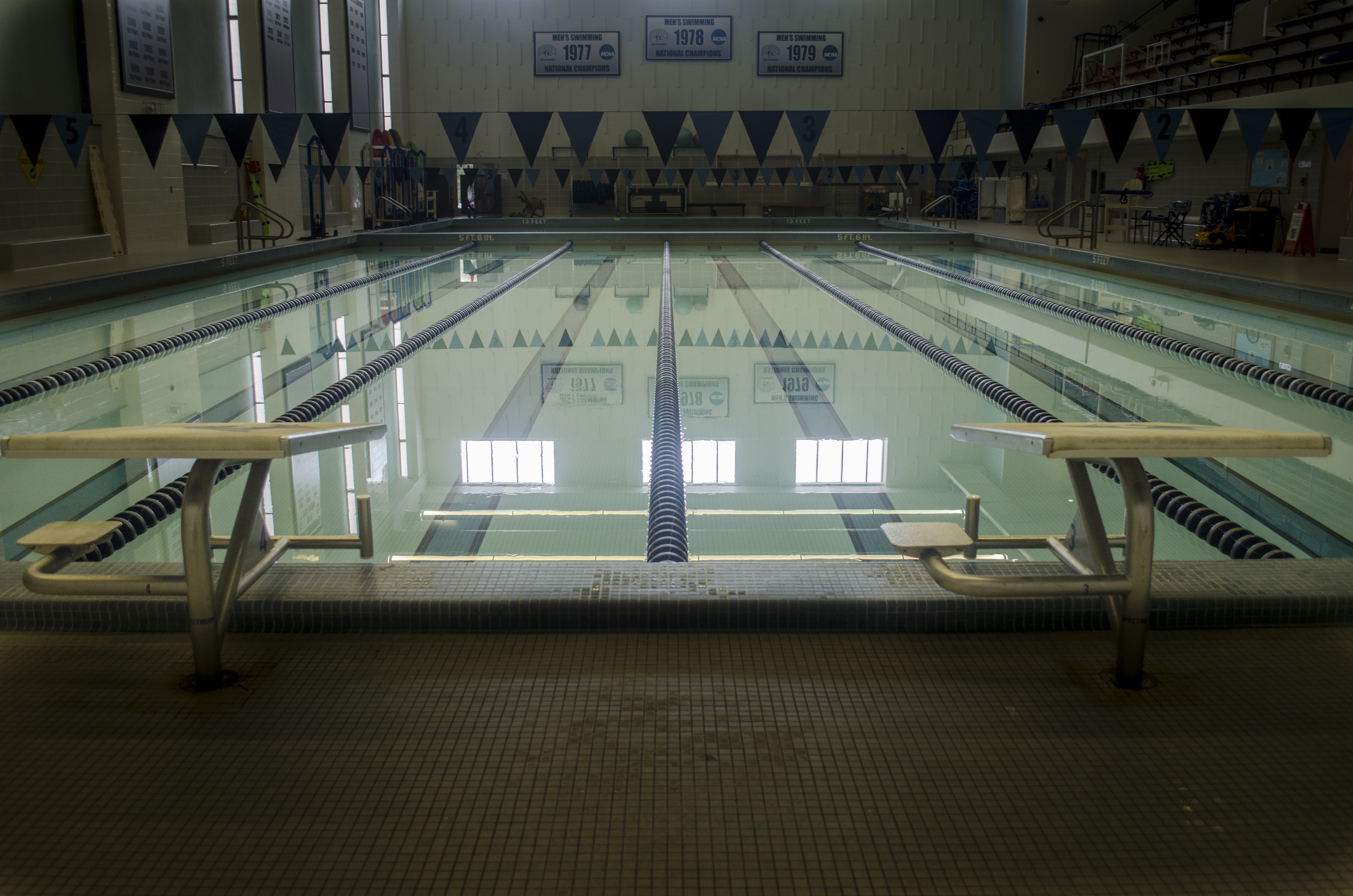 A view of the indoor lap pool.
