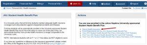 SIS health benefits screenshot