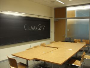 Room 217 in Gilman Hall