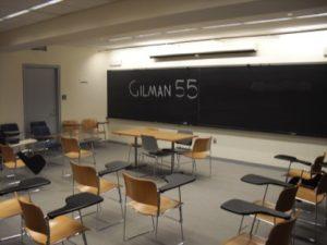 Classroom in Gilman Hall. (Gilman 55)