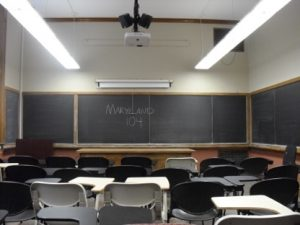 A classroom in Maryland Hall