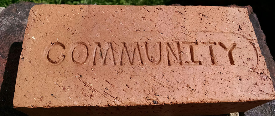 picture of brick that someone created and says community