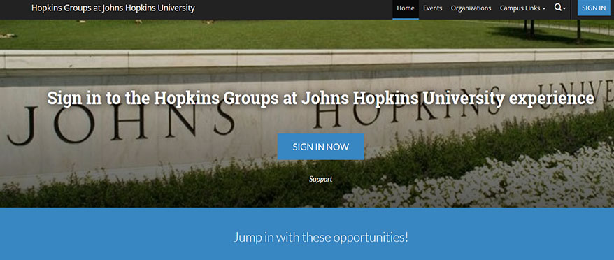 Picture of Hopkins Groups landing page