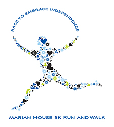 picture of the Marian House 5K logo