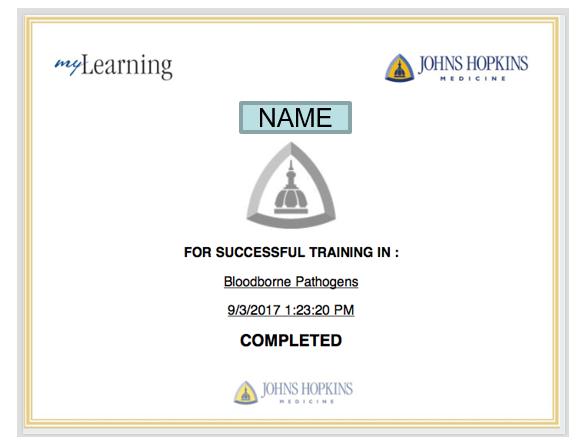 Bloodborne Pathogen Certificate Of Completion Center For Social