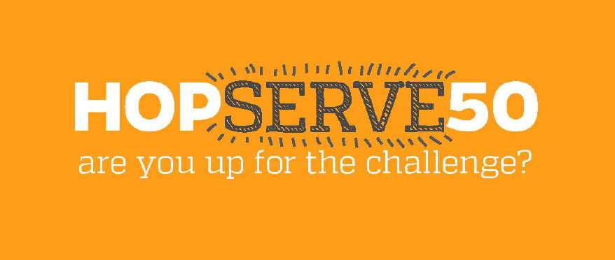 logo for HopServe50 program