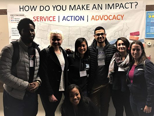 photo of students who attended 2017 IMPACT Conference