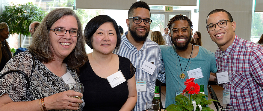 picture of students, alum, and staff at csc 25th anniversary celebration