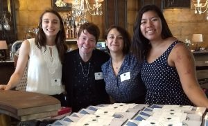 picture of Abby Neyenhouse, CIIP director, and 3 JHU CiIP interns