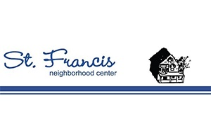 St. Francis Neighborhood Center logo. visit www.stfranciscenter.org for more info.