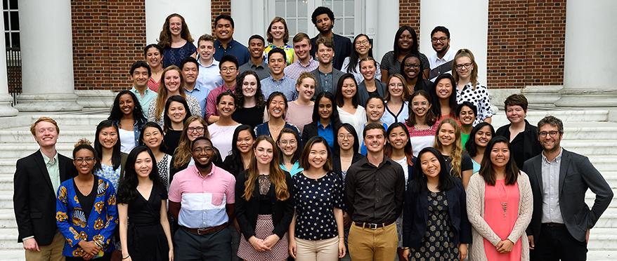 group photo of summer 2018 community impact internships program cohort