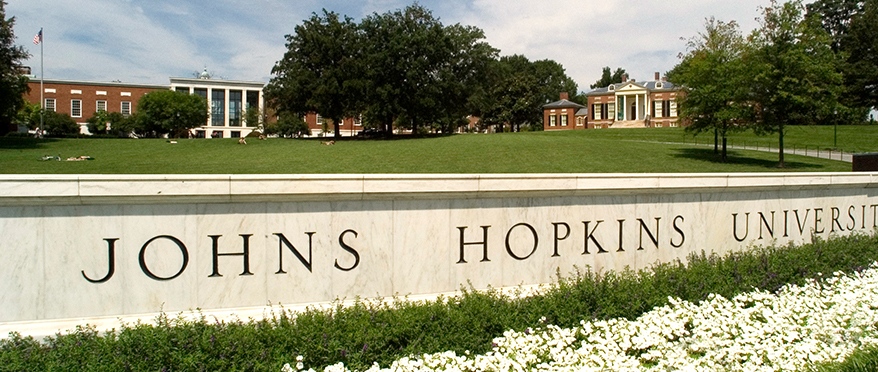 picture of JHU marble sign