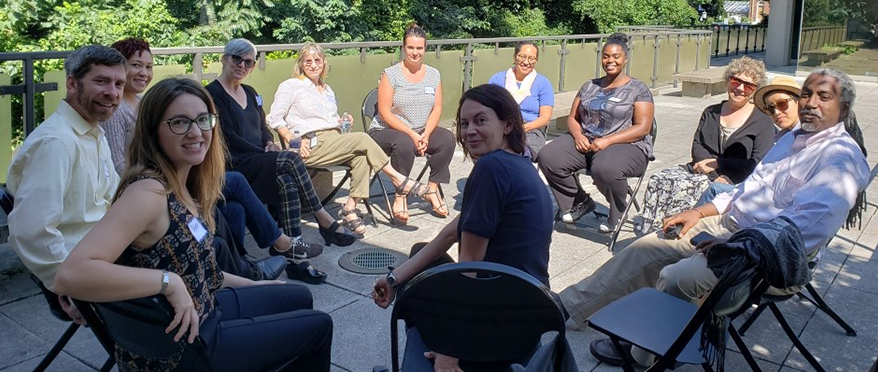 picture of JHU faculty and staff at community based learning training