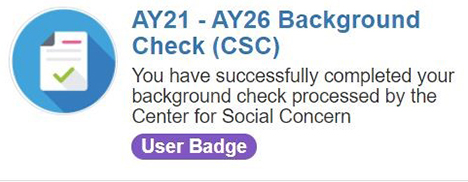 picture of background check badge from Hopkins Groups