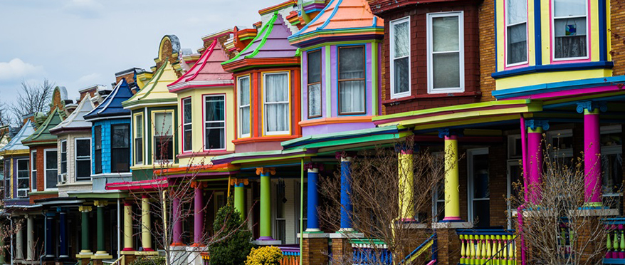 picture of baltimore rowhomes