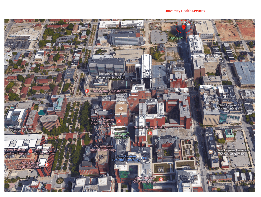 Photo map of UHS clinic location