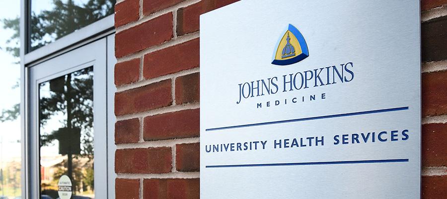 University Health Services main entrance sign