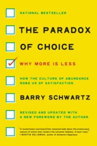 "Book cover of ""The Paradox of Choice""."