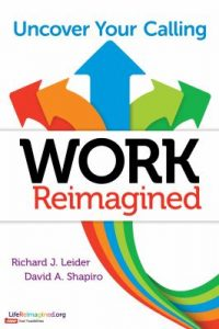 "Book cover that reads, ""Work Reimagined""."