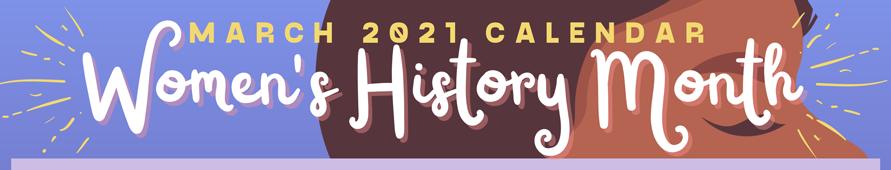 Women's History Month 2021 Calendar